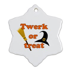 Twerk or treat - Funny Halloween design Snowflake Ornament (2-Side)