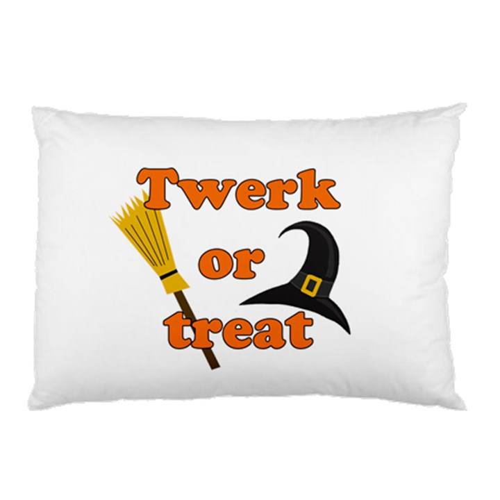 Twerk or treat - Funny Halloween design Pillow Case (Two Sides)