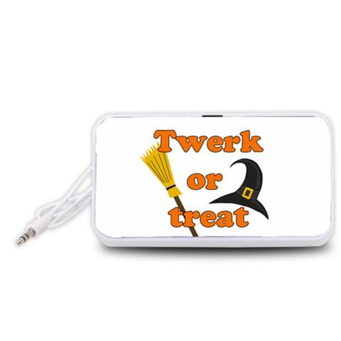 Twerk or treat - Funny Halloween design Portable Speaker (White)