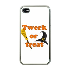 Twerk Or Treat   Funny Halloween Design Apple Iphone 4 Case (clear)