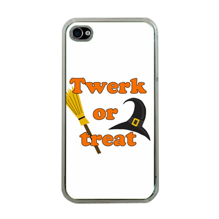 Twerk or treat - Funny Halloween design Apple iPhone 4 Case (Clear)