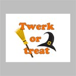 Twerk or treat - Funny Halloween design Deluxe Canvas 16  x 12   16  x 12  x 1.5  Stretched Canvas