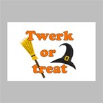 Twerk or treat - Funny Halloween design Deluxe Canvas 18  x 12   18  x 12  x 1.5  Stretched Canvas