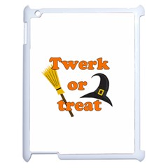 Twerk Or Treat   Funny Halloween Design Apple Ipad 2 Case (white)