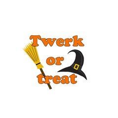Twerk or treat - Funny Halloween design Birthday Cake 3D Greeting Card (7x5)