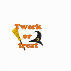 Twerk or treat - Funny Halloween design Small Garden Flag (Two Sides)