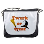 Twerk or treat - Funny Halloween design Messenger Bags Front