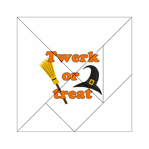 Twerk or treat - Funny Halloween design Acrylic Tangram Puzzle (6  x 6 )