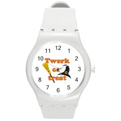 Twerk or treat - Funny Halloween design Round Plastic Sport Watch (M)