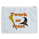 Twerk or treat - Funny Halloween design Cosmetic Bag (XXL)  Back