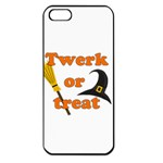 Twerk or treat - Funny Halloween design Apple iPhone 5 Seamless Case (Black) Front