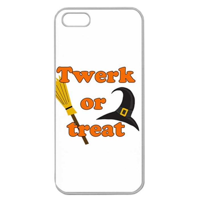Twerk or treat - Funny Halloween design Apple Seamless iPhone 5 Case (Clear)