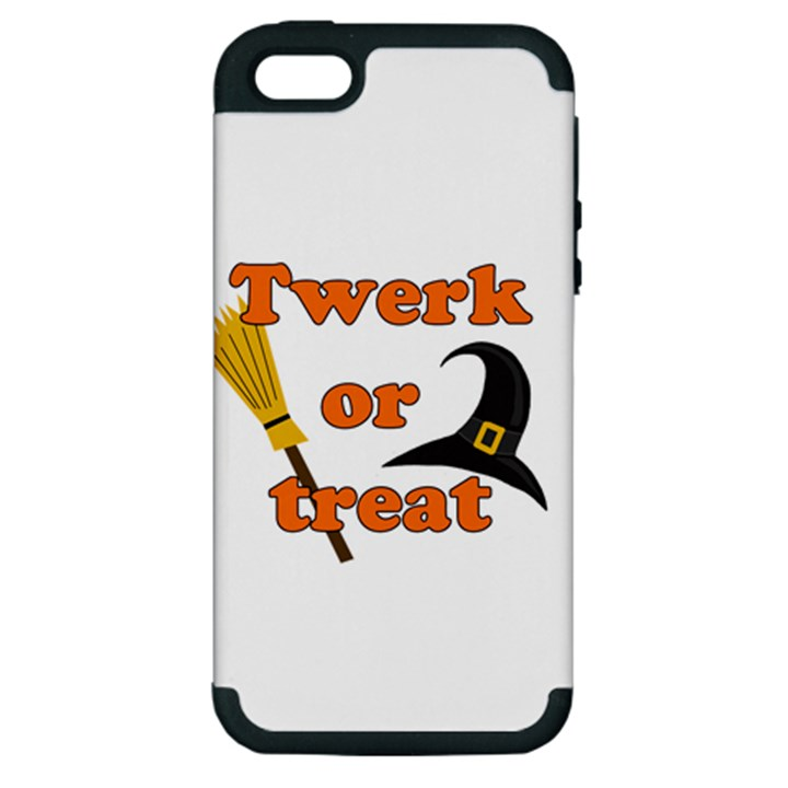 Twerk or treat - Funny Halloween design Apple iPhone 5 Hardshell Case (PC+Silicone)