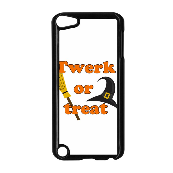 Twerk or treat - Funny Halloween design Apple iPod Touch 5 Case (Black)