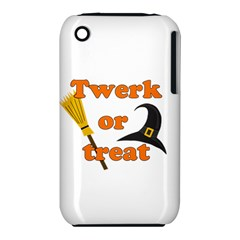 Twerk or treat - Funny Halloween design Apple iPhone 3G/3GS Hardshell Case (PC+Silicone)
