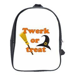 Twerk or treat - Funny Halloween design School Bags (XL)
