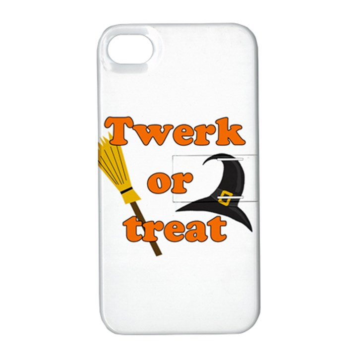 Twerk or treat - Funny Halloween design Apple iPhone 4/4S Hardshell Case with Stand