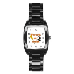 Twerk Or Treat   Funny Halloween Design Stainless Steel Barrel Watch