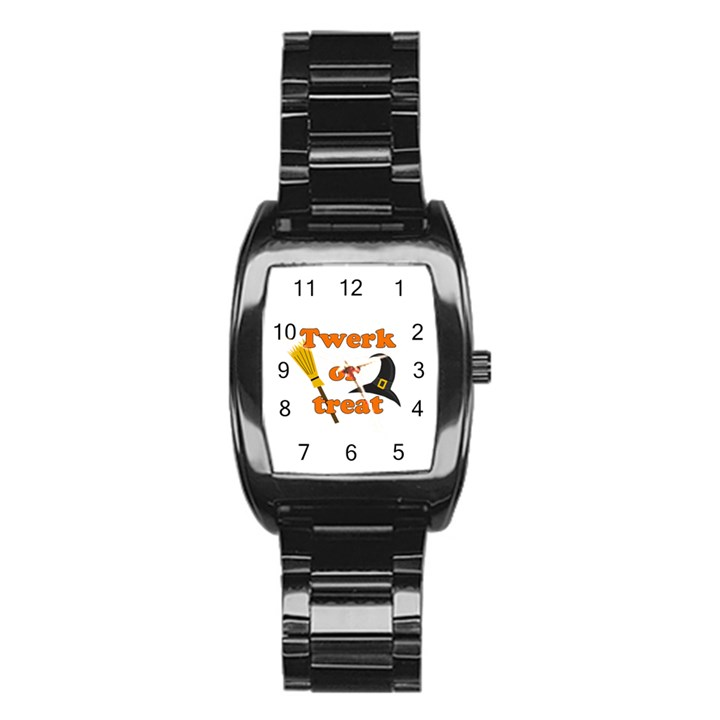 Twerk or treat - Funny Halloween design Stainless Steel Barrel Watch