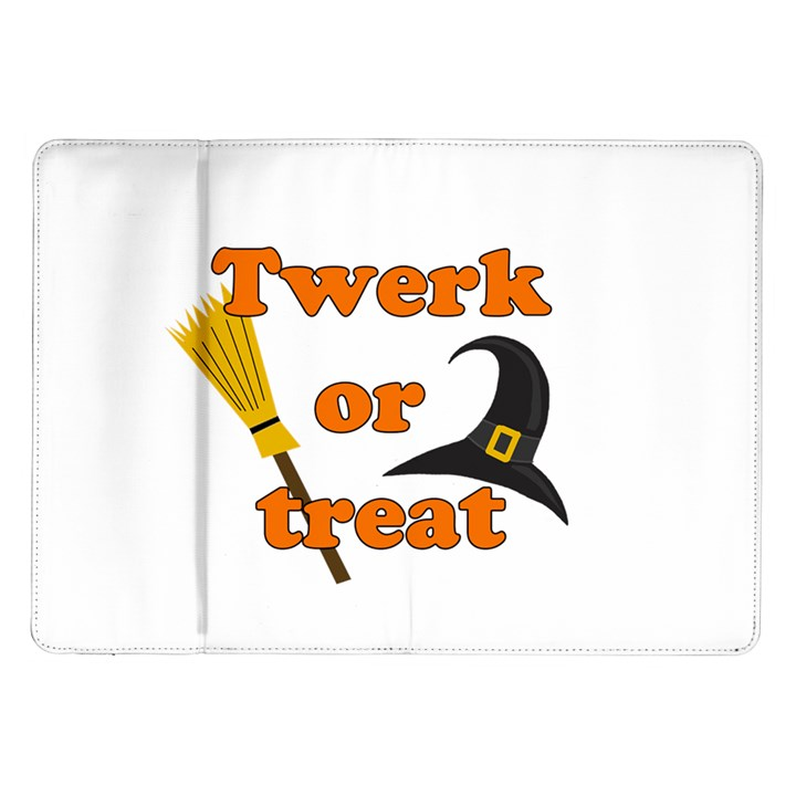 Twerk or treat - Funny Halloween design Samsung Galaxy Tab 10.1  P7500 Flip Case