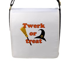 Twerk or treat - Funny Halloween design Flap Messenger Bag (L)