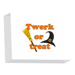 Twerk or treat - Funny Halloween design 5 x 7  Acrylic Photo Blocks
