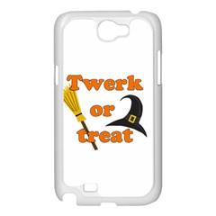 Twerk or treat - Funny Halloween design Samsung Galaxy Note 2 Case (White)