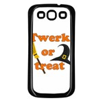 Twerk or treat - Funny Halloween design Samsung Galaxy S3 Back Case (Black) Front