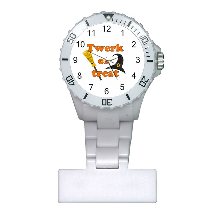 Twerk or treat - Funny Halloween design Plastic Nurses Watch
