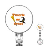 Twerk or treat - Funny Halloween design Stainless Steel Nurses Watch Front