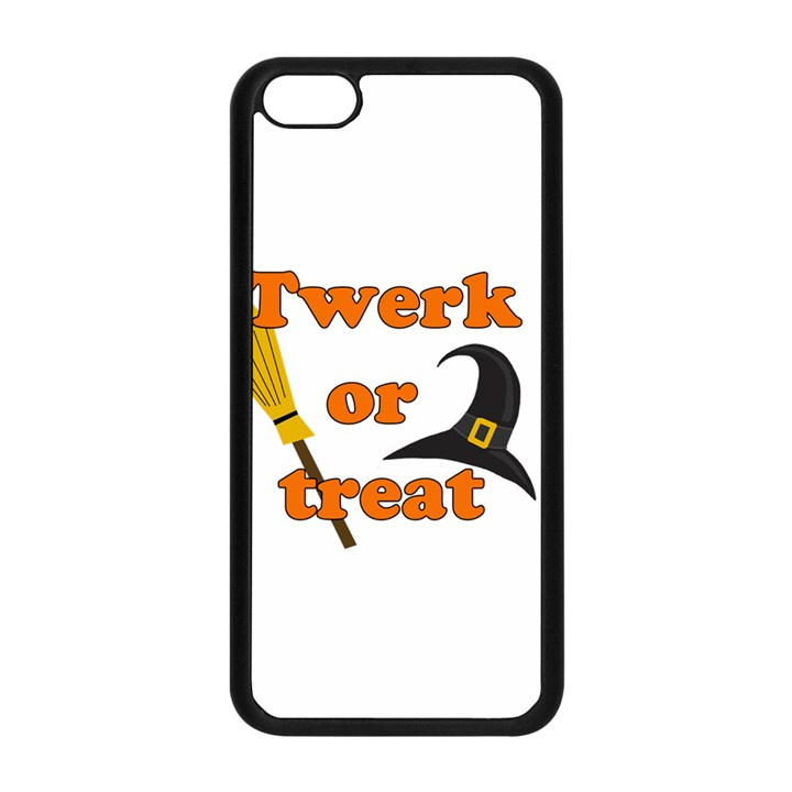 Twerk or treat - Funny Halloween design Apple iPhone 5C Seamless Case (Black)