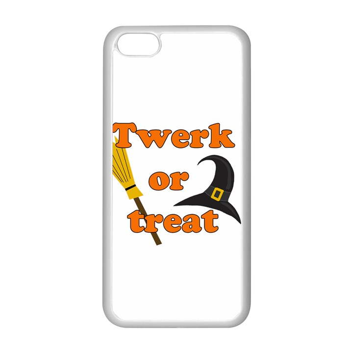 Twerk or treat - Funny Halloween design Apple iPhone 5C Seamless Case (White)