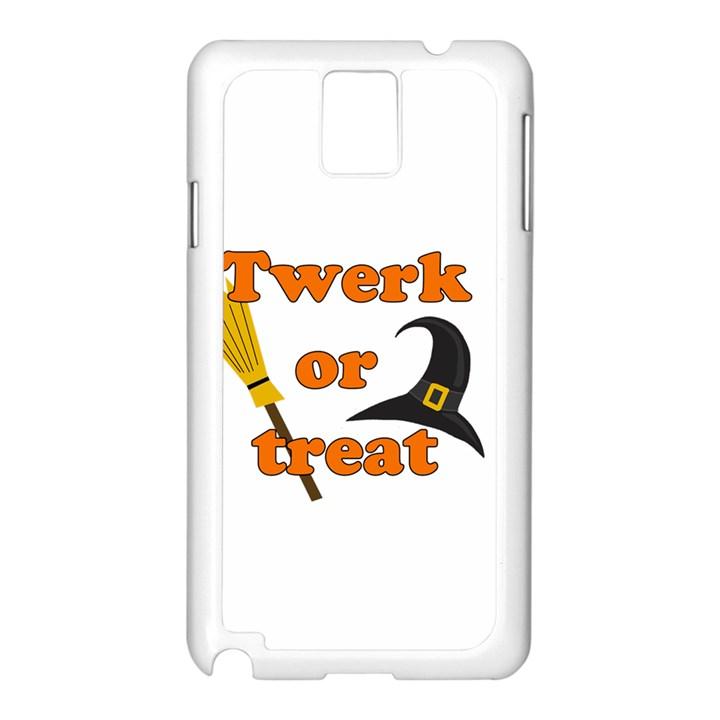Twerk or treat - Funny Halloween design Samsung Galaxy Note 3 N9005 Case (White)