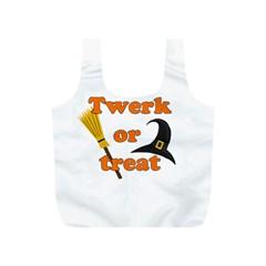 Twerk Or Treat   Funny Halloween Design Full Print Recycle Bags (s)