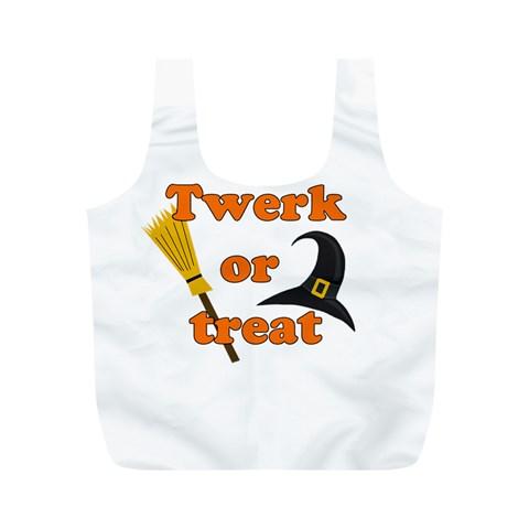Twerk or treat - Funny Halloween design Full Print Recycle Bags (M)