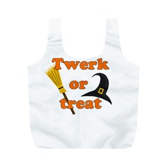 Twerk or treat - Funny Halloween design Full Print Recycle Bags (M)