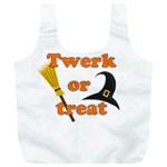 Twerk or treat - Funny Halloween design Full Print Recycle Bags (L)  Front