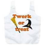 Twerk or treat - Funny Halloween design Full Print Recycle Bags (L)  Back