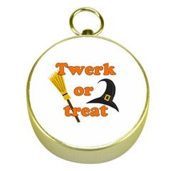 Twerk or treat - Funny Halloween design Gold Compasses