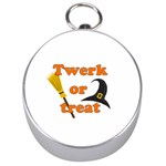 Twerk or treat - Funny Halloween design Silver Compasses Front