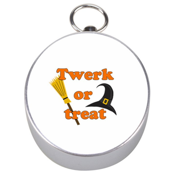 Twerk or treat - Funny Halloween design Silver Compasses