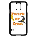 Twerk or treat - Funny Halloween design Samsung Galaxy S5 Case (Black) Front
