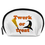 Twerk or treat - Funny Halloween design Accessory Pouches (Large)  Front