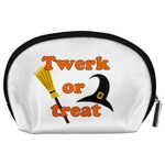Twerk or treat - Funny Halloween design Accessory Pouches (Large)  Back