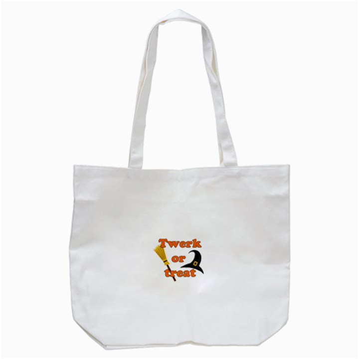 Twerk or treat - Funny Halloween design Tote Bag (White)