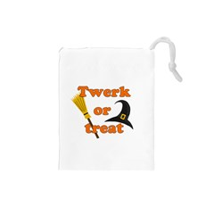 Twerk or treat - Funny Halloween design Drawstring Pouches (Small)