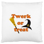 Twerk or treat - Funny Halloween design Large Flano Cushion Case (Two Sides) Back