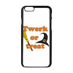 Twerk Or Treat   Funny Halloween Design Apple Iphone 6/6s Black Enamel Case