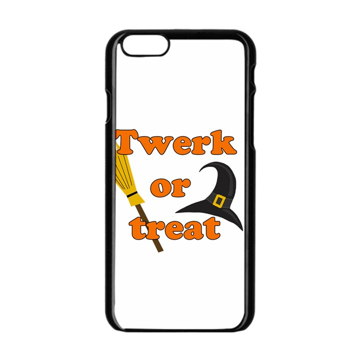 Twerk or treat - Funny Halloween design Apple iPhone 6/6S Black Enamel Case