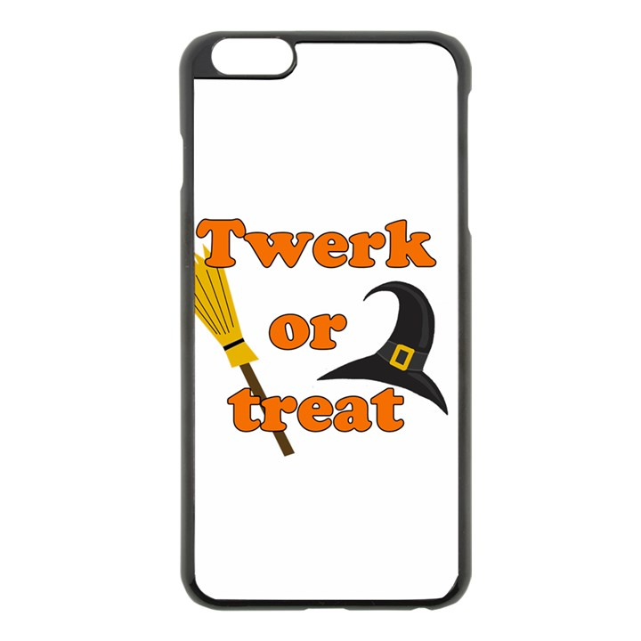 Twerk or treat - Funny Halloween design Apple iPhone 6 Plus/6S Plus Black Enamel Case